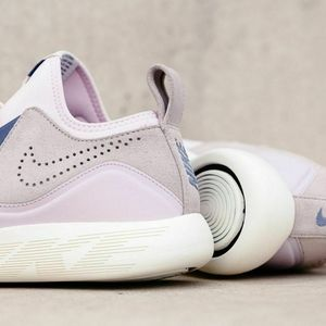 Nike LUNARCHARGE Sneakers Pink Nude Lace Up Blue 8